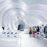 Оригинальная концепция магазина в Майами в виде тоннеля